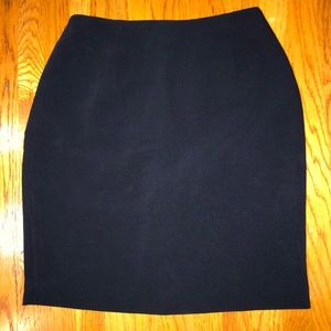 Navy blue pleaded skirt